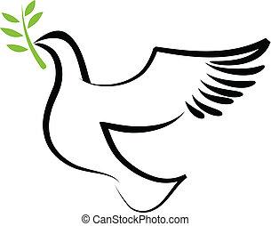 Vector dove, zwei
