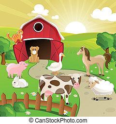 Vector Farmtiere.