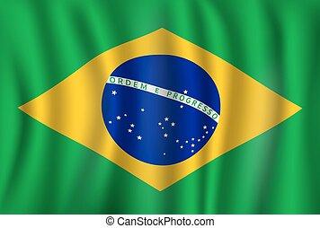 Vector Flag von Brasilien. brasilianisches Nationalsymbol