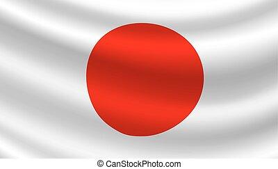 Vector Flag von Japan. Japanisches Nationalsymbol