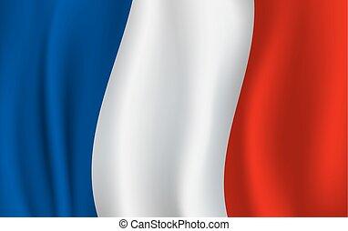 Vector Flagge von Frankreich. Französisches nationales Symbol