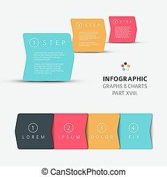 Vector Flat Design infographische Elemente