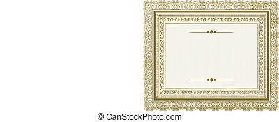 Vector Gold-Ornate-Rahmen