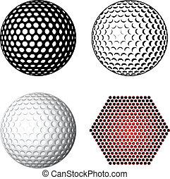 Vector Golfball-Symbole