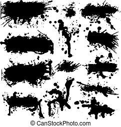 Vector Grunge Tintenspritzer-Sammlung.