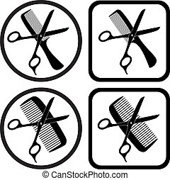 Vector Hairdresser-Symbol