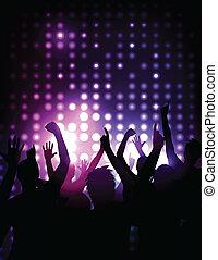 Vector Hintergrund - jubelnde Menge bei einem Konzert
