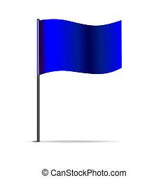 Vector Illustration der blauen Dreiecksflagge