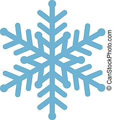 Vector Illustration der blauen Schneeflocke.