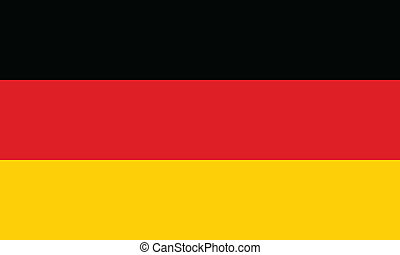 Vector Illustration der Flagge Deutschlands.