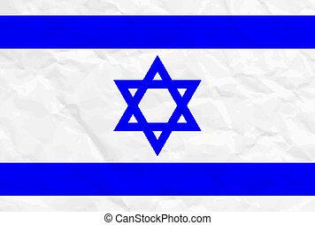 Vector Illustration der israel Flagge.