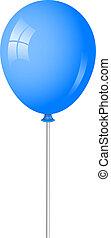 Vector Illustration des blauen Ballons