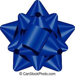 Vector Illustration des blauen Bogens.