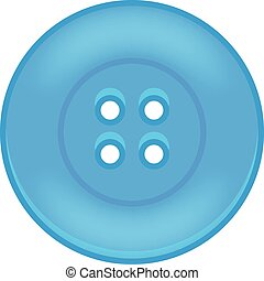 Vector Illustration des blauen Knopfes.