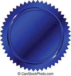 Vector Illustration des blauen Siegels.
