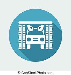 Vector Illustration eines einzelnen isolierten Icons.