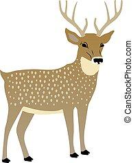 Vector Illustration eines süßen Hirsches.