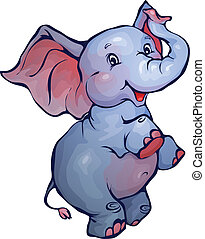 Vector Illustration von Elefanten im Zeichentrickfilm.