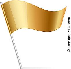 Vector Illustration von Goldflagge.