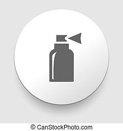 Vector Illustration von isolierten Flaschen Icon.