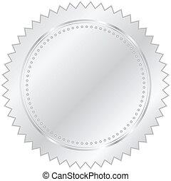 Vector Illustration von Silbersiegel.