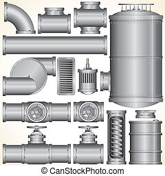 Vector Industrieelemente