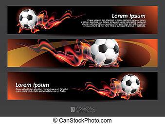 Vector Info Banner Football.