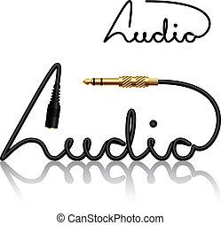 Vector Jack Connecrets Audio-Calligraphy