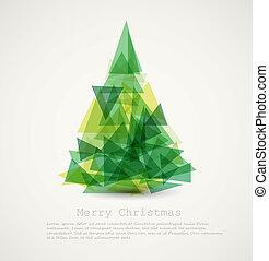 Vector-Karte mit abstraktem grünen Weihnachtsbaum