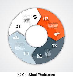 Vector Kreisdiagramm infographic für Geschäftspräsentation