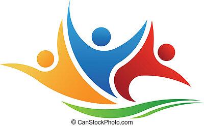 Vector Logo drei Personen.