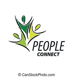 Vector Logo-Leute
