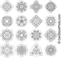 Vector-Magiegeometrieschilder