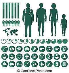 Vector medizinische Infographie,