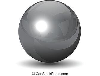 Vector metallische Chromkugel