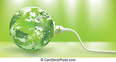 Vector nachhaltiges grünes Energiekonzept