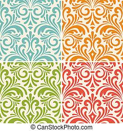 Vector nahtlose blumenreiche Muster.