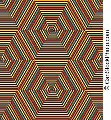 Vector nahtlose geometrische Retromuster.