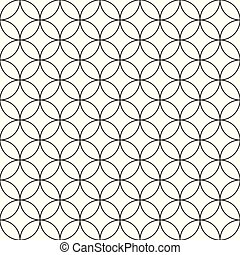 Vector nahtlose Kreismuster - einfaches Zier Hintergrund.