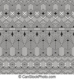 Vector nahtloses Stammesmuster. Geometrischer Hintergrund.