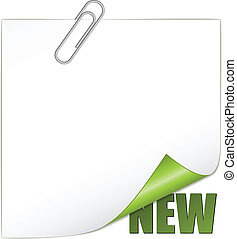 Vector New Ecke mit Büroklammer