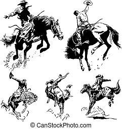 Vector Old Rodeo Grafik