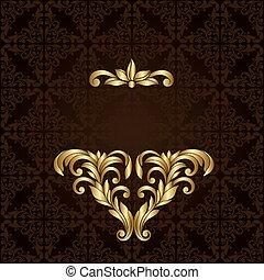 Vector ornate gold border.