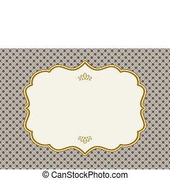 Vector ornate Goldrahmen