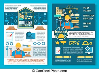Vector Poster für Hausbau
