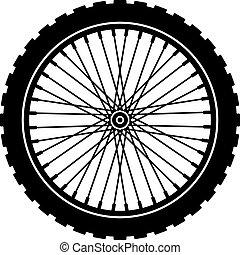 Vector Rad, schwarze Silhouette