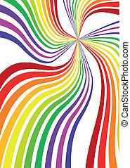 Vector Rainbow Hintergrund