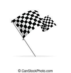 Vector-Rennflagge