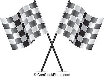 Vector-Rennflaggen-Icon