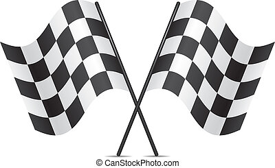 Vector-Rennflaggen
